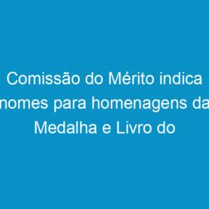 Comissão do Mérito indica nomes para homenagens da Medalha e Livro do Mérito do Sistema Confea/Crea