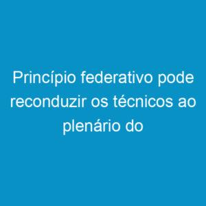 Princípio federativo pode reconduzir os técnicos ao plenário do Confea