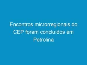 Read more about the article Encontros microrregionais do CEP foram concluídos em Petrolina