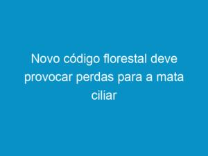 Read more about the article Novo código florestal deve provocar perdas para a mata ciliar