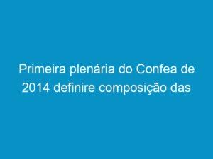 Read more about the article Primeira plenária do Confea de 2014 definire composição das comissões