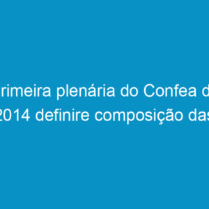 Primeira plenária do Confea de 2014 definire composição das comissões