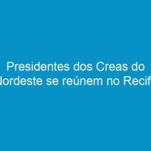 Presidentes dos Creas do Nordeste se reúnem no Recife