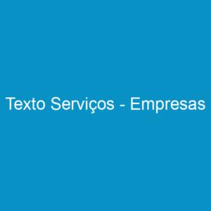 Texto Serviços – Empresas