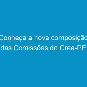Conheça a nova composição das Comissões do Crea-PE