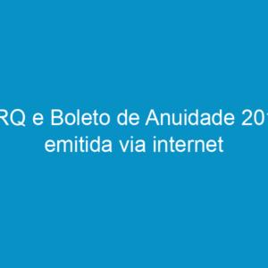 CRQ e Boleto de Anuidade 2010 emitida via internet