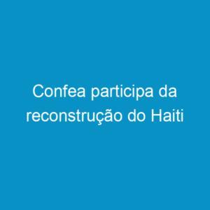 Confea participa da reconstrução do Haiti