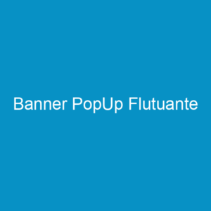 Banner PopUp Flutuante