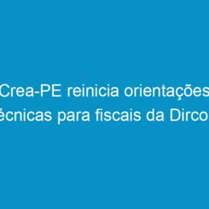 Crea-PE reinicia orientações técnicas para fiscais da Dircon