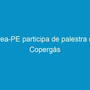 Crea-PE participa de palestra na Copergás