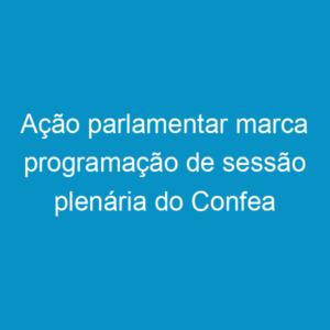 Ação parlamentar marca programação de sessão plenária do Confea