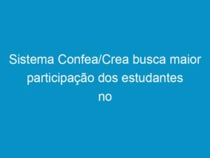 Read more about the article Sistema Confea/Crea busca maior participação dos estudantes no sistema profissional