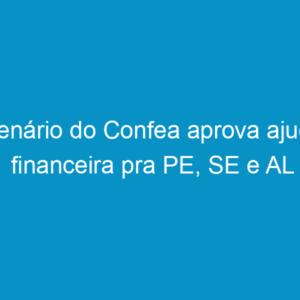 Plenário do Confea aprova ajuda financeira pra PE, SE e AL