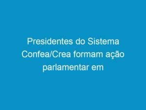 Read more about the article Presidentes do Sistema Confea/Crea formam ação parlamentar em Brasília