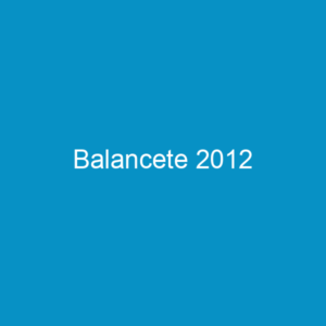 Balancete 2012