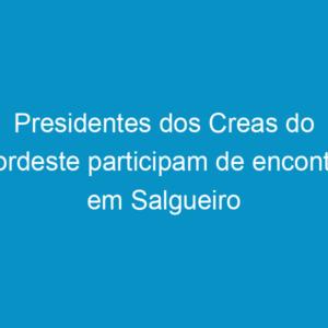 Presidentes dos Creas do Nordeste participam de encontro em Salgueiro