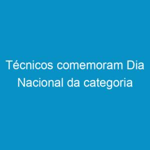 Técnicos comemoram Dia Nacional da categoria