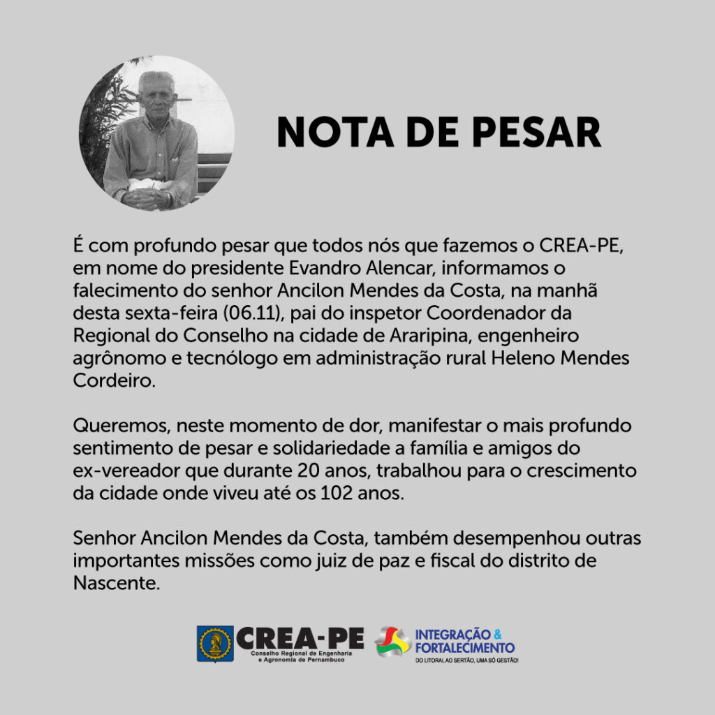 Read more about the article Nota de Pesar