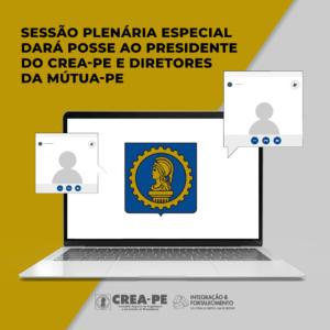 Sessão Plenária Especial dará posse ao presidente do Crea-PE e diretores da Mútua-PE