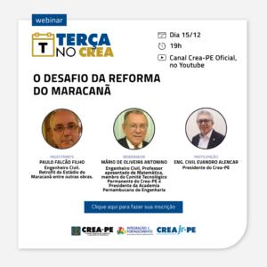 Terça no Crea traz detalhes sobre obra de reforma do Maracanã