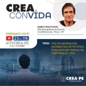 Crea Convida discute o desperdício nas obras na construção civil