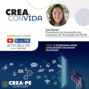 Laís Xavier debate importância da tecnologia para a transformação no Crea Convida
