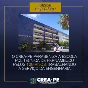Escola Politécnica comemora 109 anos de sucesso no fortalecimento da engenharia pernambucana