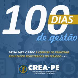 Crea-PE apresenta resultados de 100 dias de gestão