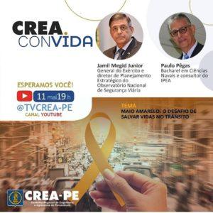 Crea Convida debate a Campanha Maio Amarelo para salvar vidas no trânsito