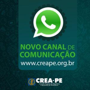 Crea-PE lança canal de atendimento via WhatsApp