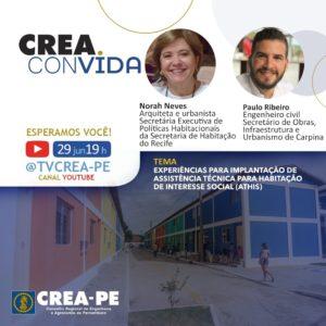 Read more about the article Crea Convida discute os desafios para redução do déficit habitacional