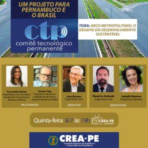 I seminário do CTP no Crea-PE debate possibilidades de desenvolvimento sustentável para o Arco Metropolitano