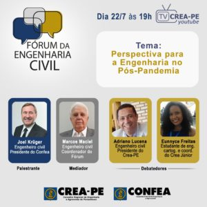 Read more about the article Fórum debate as perspectivas para a engenharia no pós-pandemia