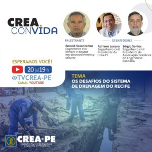 Read more about the article Crea Convida debate os desafios do sistema de drenagem do Recife