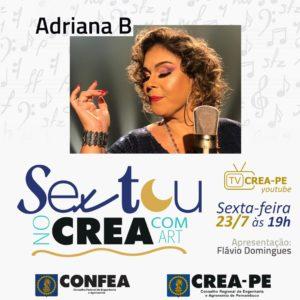 Adriana B fala sobre sua carreira no Sextou no Crea