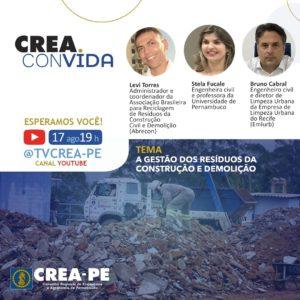 Crea Convida discute a gestão dos resíduos da construção e demolição