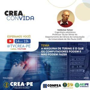 Read more about the article Professor da USP debate sobre a Máquina de Turing e os limites da tecnologia no Crea Convida