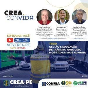 Read more about the article A segurança no trânsito e a redução de acidentes é pauta do Crea Convida desta terça (28)