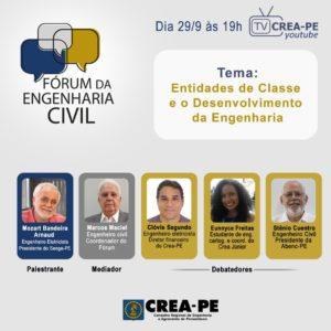 "Read more about the article Fórum debate o tema ""Entidades de Classe e o Desenvolvimento da Engenharia"""